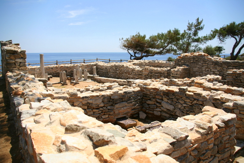 things to do Thassos - check out the history at some of the ruins; Aliki beach