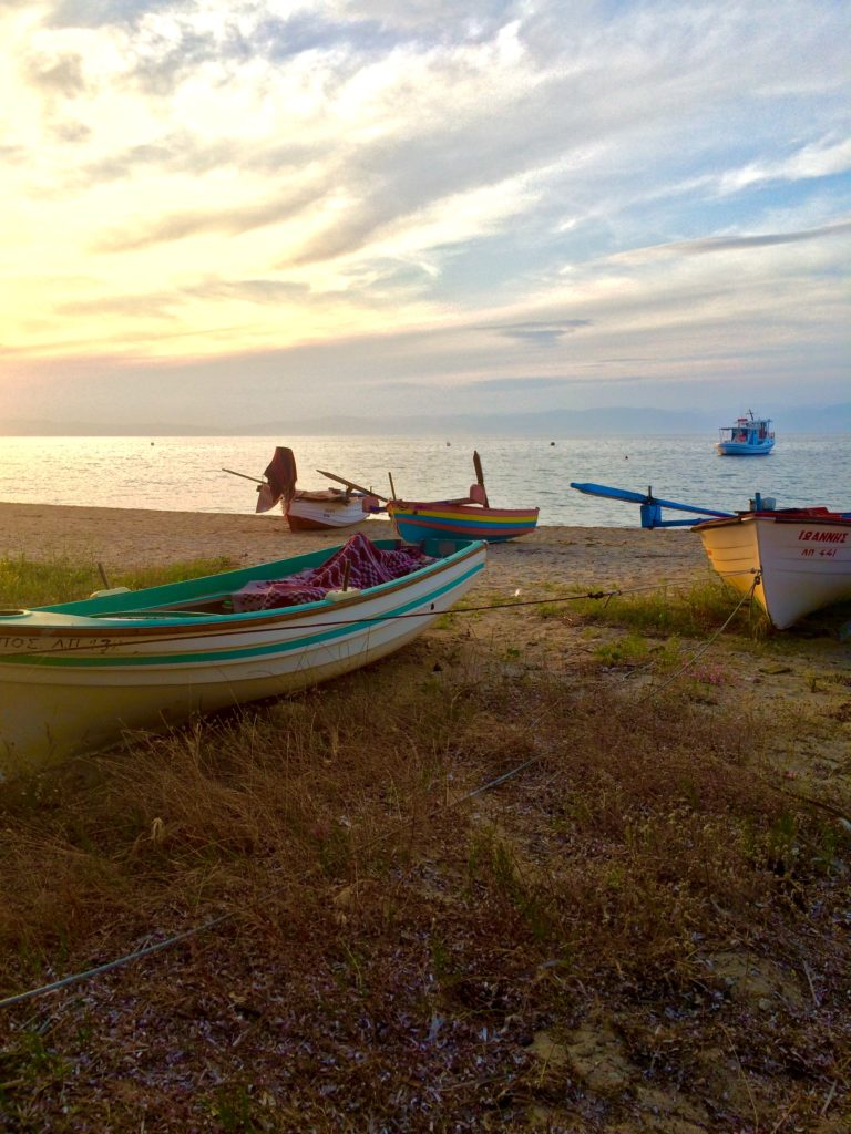 best place to see sunset on in Thassos