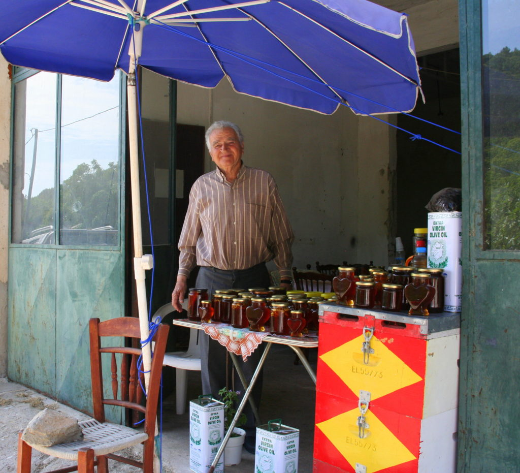 Looking for things to do in Thassos - visit the hills where the bees live and sample the local honey