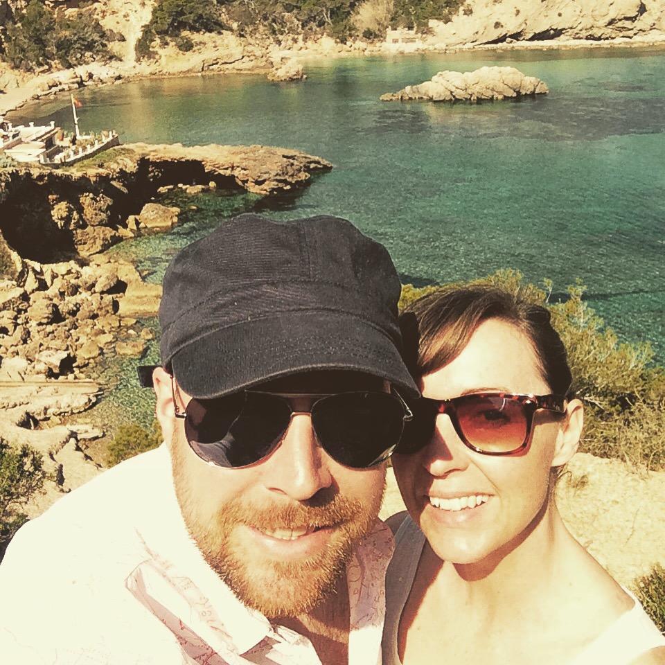 selfie in Ibiza on a beach