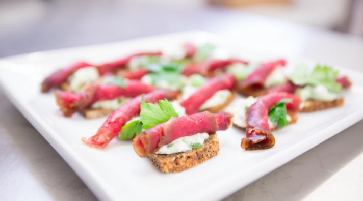 smorgasbord open sandwich - a popular lunch choice among the Danish