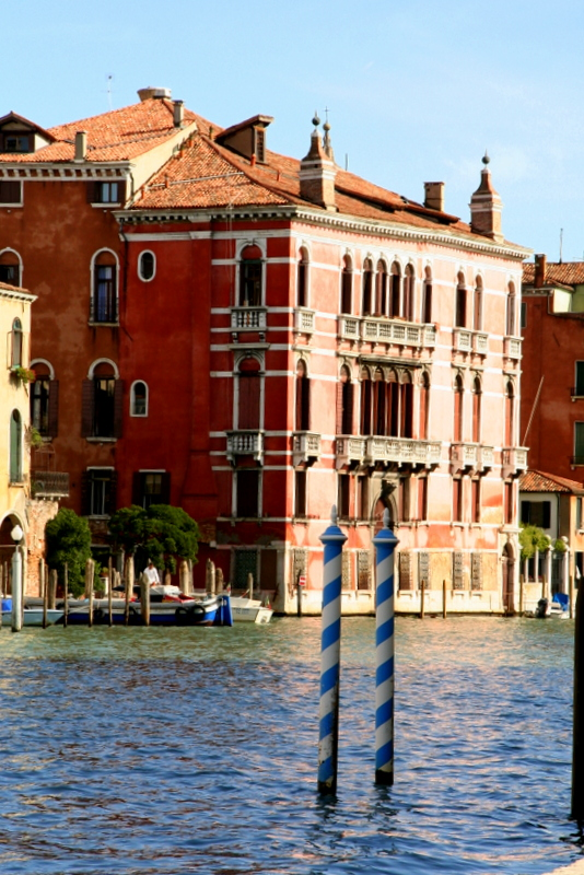 Palace's line the Grand Canal in Venice.