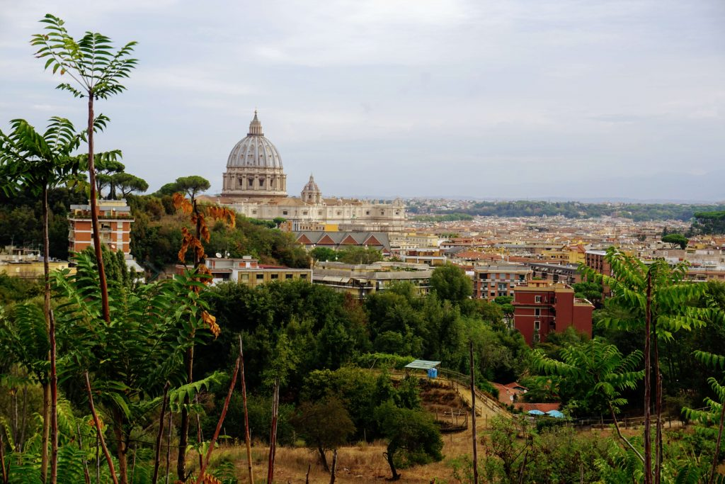 vatican hotel balcony view of Rome