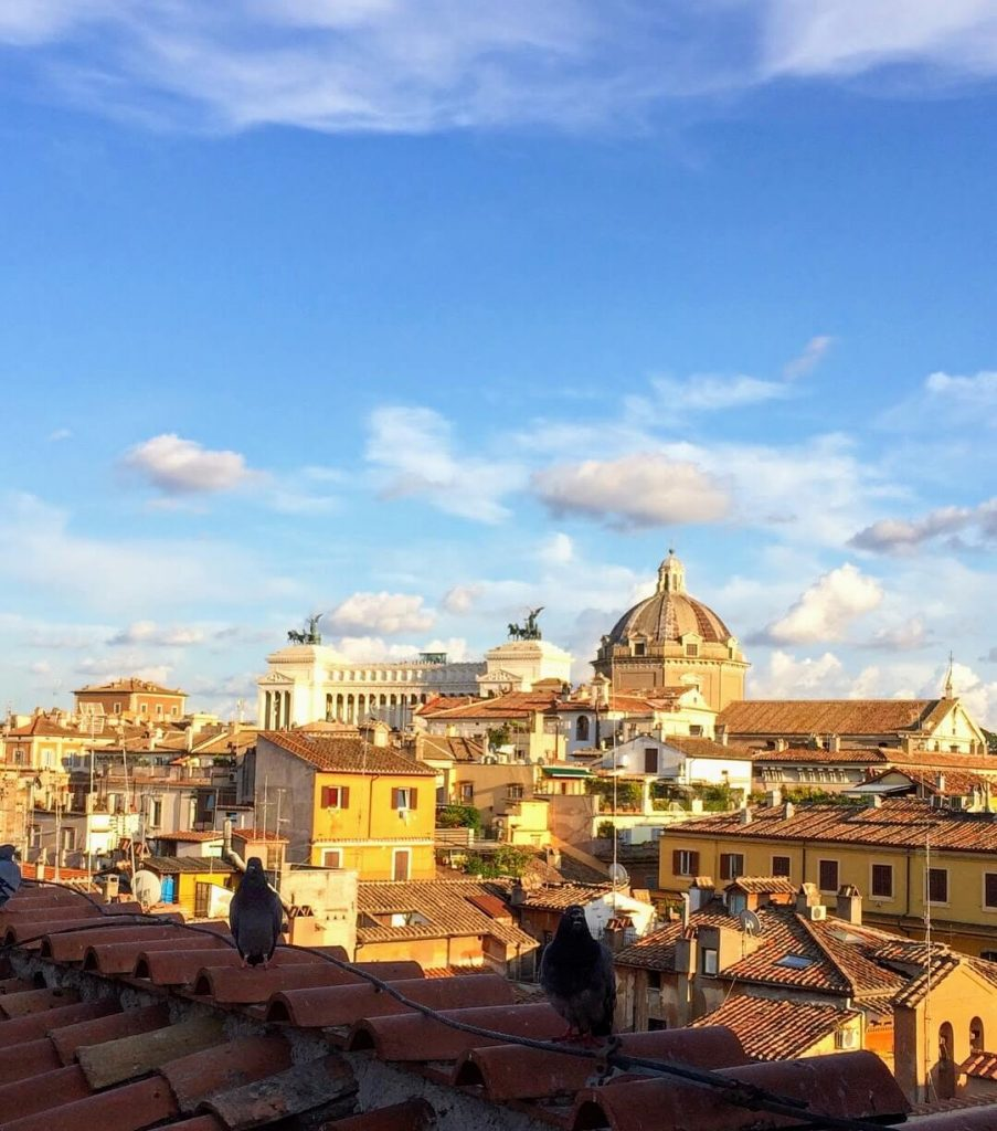 Roof top bar Rome? cocktails with a view? watch the sunset in Rome?