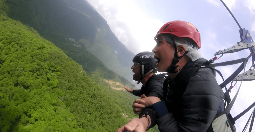 The Zipline at Lake Maggiore is one of the best places to take the kids in North Italy - so much fun and some of the most amazing views