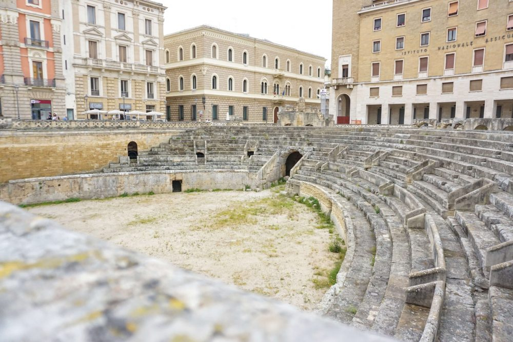 Things to see in Lecce - The roman amphitheatre. A top town to visit in Salento