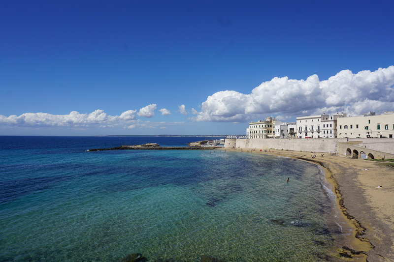 best beaches in Puglia are near Gallipoli