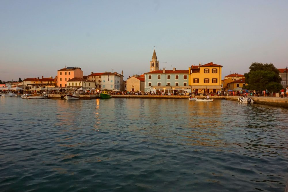 best view of fazana - from a boat trip