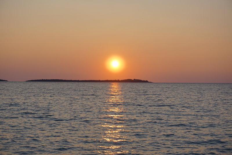 sunset over the Brijuni islands, Istria ,Croatia